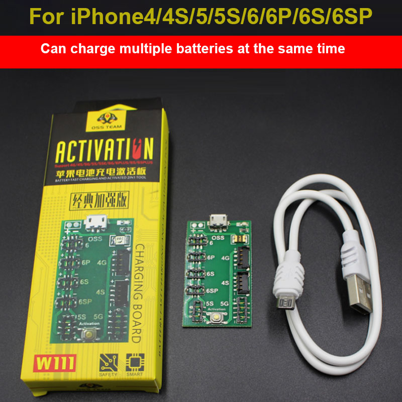 For iPhone4/4S/5/5S/6/6P/6S/6SP intelligence fast Battery Activation Charge PCB Board Cable Activate Plate Board Circuit ld7530pl ld7530 sot23 6