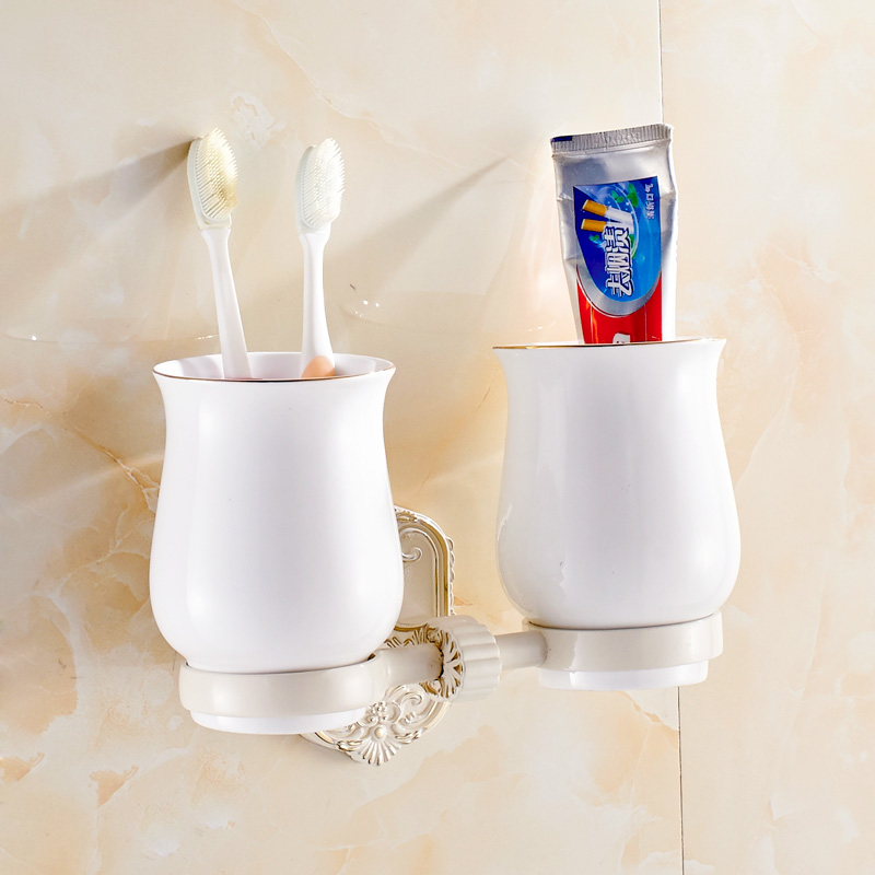 Jieshalang Ivory carving toothbrush cup toothbrush holder bathroom Tumbler Holder brush cup European bathroom ceramics 7268