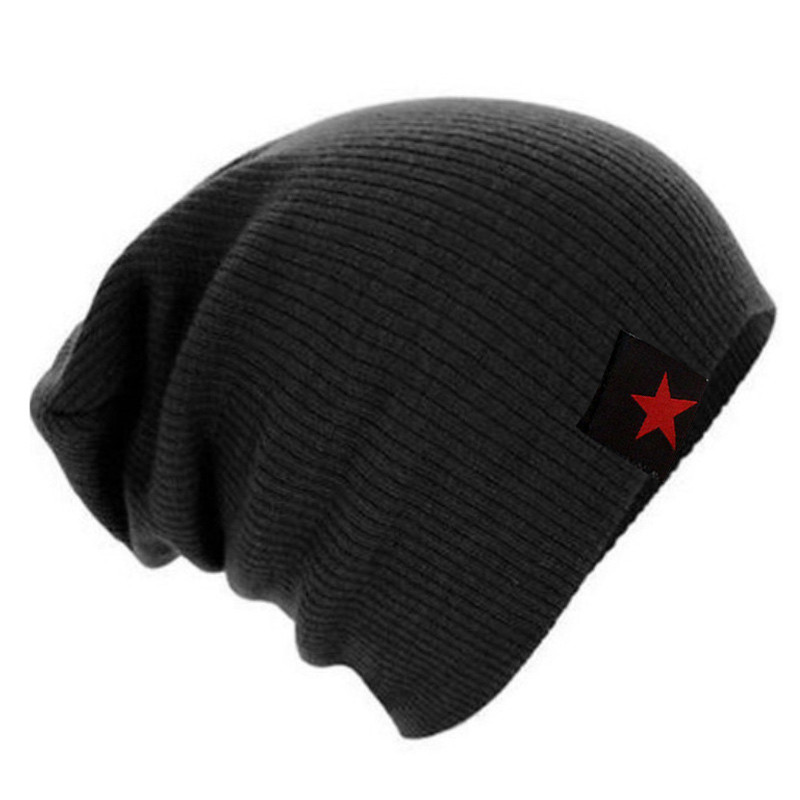 2016 Winter Hat For Women Men Women's Knitted  Star Brand Bonnet  Hip Hop Warm Baggy Cap Wool Gorros Hat Female Skullies Beanies 2017 winter women beanie skullies men hiphop hats knitted hat baggy crochet cap bonnets femme en laine homme gorros de lana