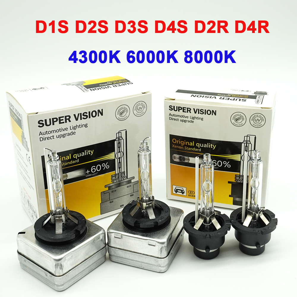 1 Pair D1S D2S D3S D4S HID Xenon Bulb D2R D4R Xenon Lamp 4300K 6000k 8000k High Low Hid Headlight Xenon Headlamp 12V 35W White