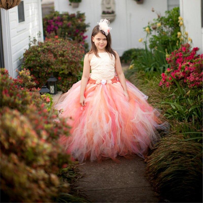 b82d8fc3a6 2-13Y Hot Sale Elegant Tulle Dress Satin Corset Bodice Baby Girl Tutu Dress  Kids Prom Wedding Party Festival Birthday Dresses