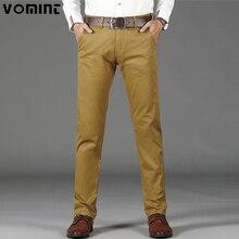 VOMINT Mens casual di Base Pantaloni Semplici Pantaloni Regolari Rette Dettagli Tasca Pantaloni Stretch Pantaloni Uomo Big Size 44 46