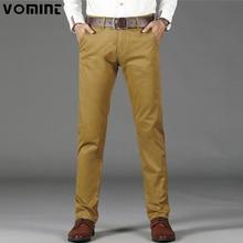 VOMINT Pantalones básicos informales para hombre, pantalones sencillos con bolsillos rectos, elásticos, talla grande 44 46