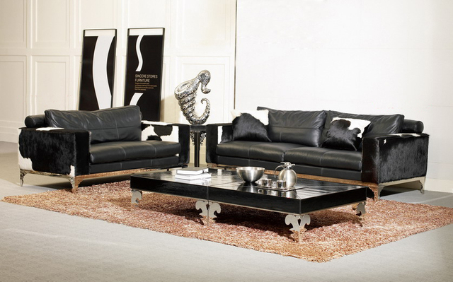 Italy Genuine Leather Sofa Set 2+3 Seater Top Grain Cow Modern Wholesale  High