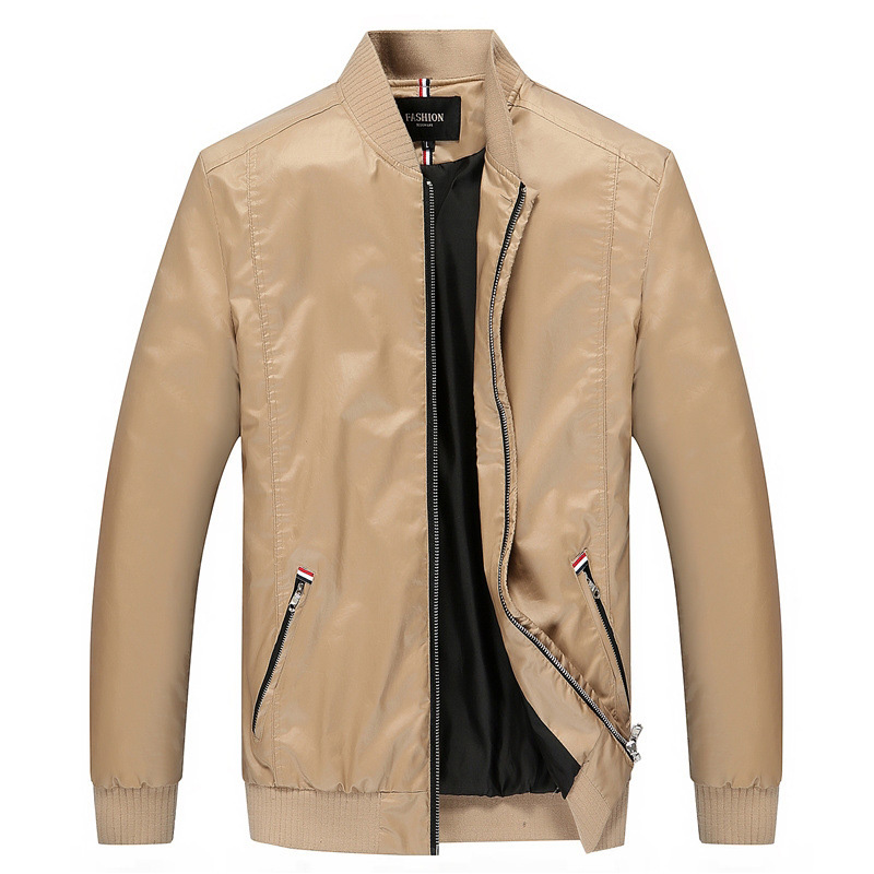 Coat Men Outwear Stand-Collar Spring Casual Jacket Designer Fashion Plus-Size New 3XL