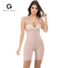 45f4c35d8308f Women Firm Control Open Bust Full Body Shaper Plus Size Waist Tranier  Shapewear Postpartum Slimming Bodysuit