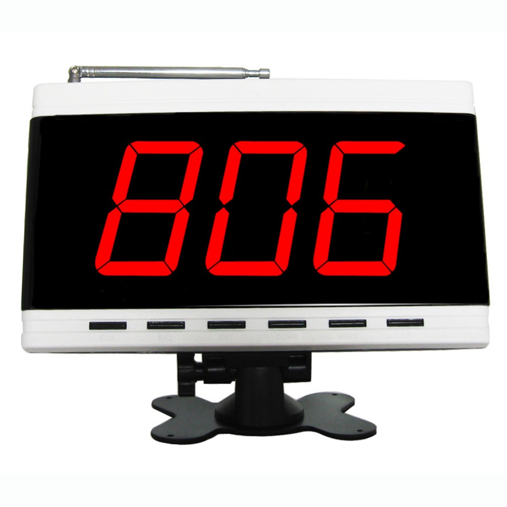 SINGCALL.wireless calling system,restaurant calling system,hotel system,3 digits display receiver 2 receivers 60 buzzers wireless restaurant buzzer caller table call calling button waiter pager system