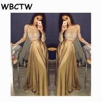 WBCTW נשים סתיו האביב אלגנטי חצאית 2018 גבוהה מותן קפלים חצאית ארוכה מקסי חצאית סאטן 9XL 10XL בתוספת חצאית גודל
