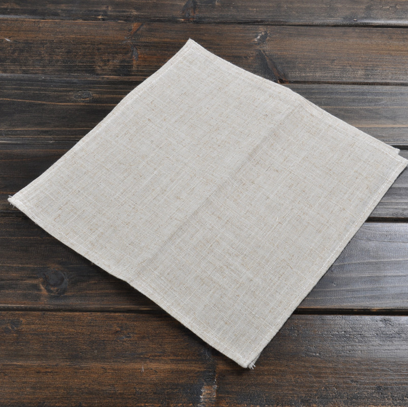 High quality brief modern western food linen towel fabric
