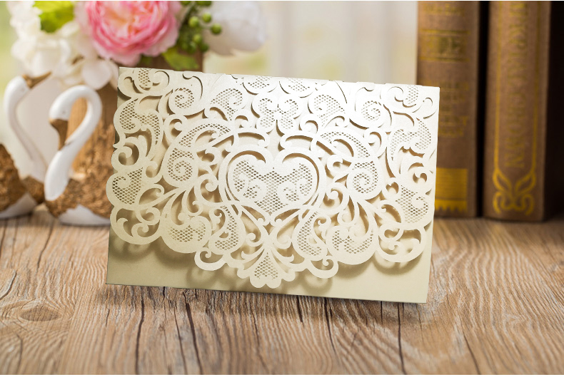Wedding Invitation Paper Types: Aliexpress.com : Buy High Quality Pearly Paper Tri Folding