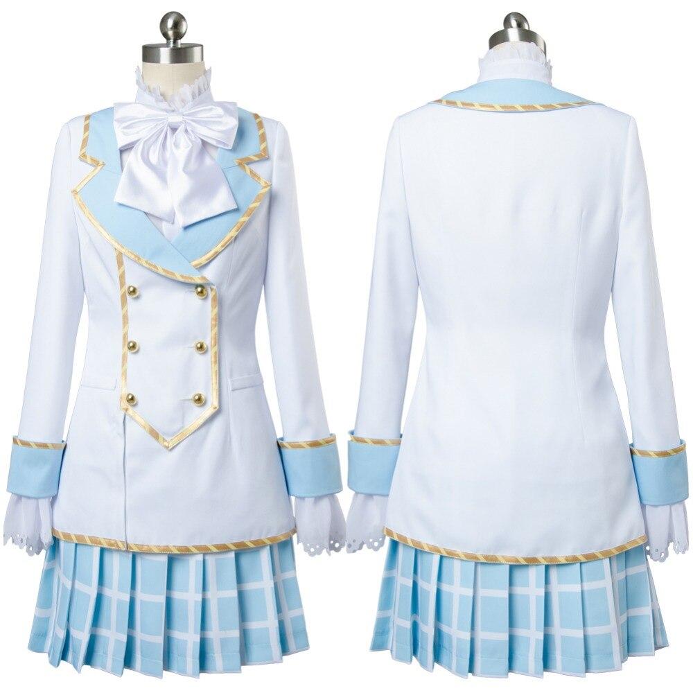 LoveLive Cosplay Sakurauchi Riko Wonderland Alice Maid Cosplay Costume Dress Halloween Carnival Costume Custom Made