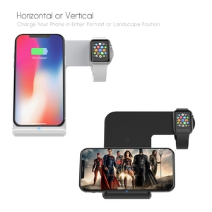 Image 4 - DCAE 10W Qi Wireless Charger Dock Station For iPhone 11 XS XR X 8 Samsung S20 S10 S9 Fast Charging Stand for Apple Watch 5 4 3 2