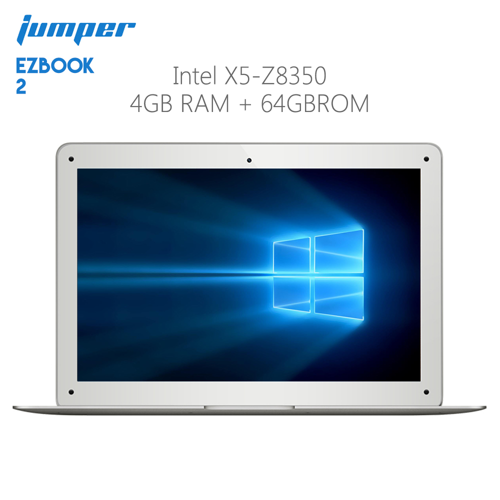 Original Jumper Ezbook 2 Laptop Windows 10 Intel Cherry Trail X5 Z8350 Quad Core 4GB RAM 64GB ROM Notebook HDMI