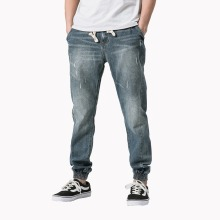 Mens Jeans Elastic Pants New Male Brand Clothing Cotton Stretch Jeans Pants Men's Brand Fashion Wear Loose Fit Denim Trousers