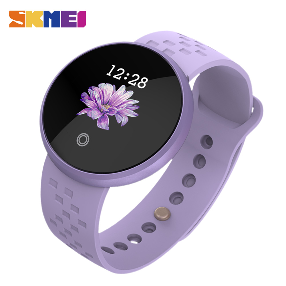 SKMEI Women Fashion Smart Digital Watches Women Period Reminder Heart Rate Waterproof Watches Calorie Step Leisure sports Watch