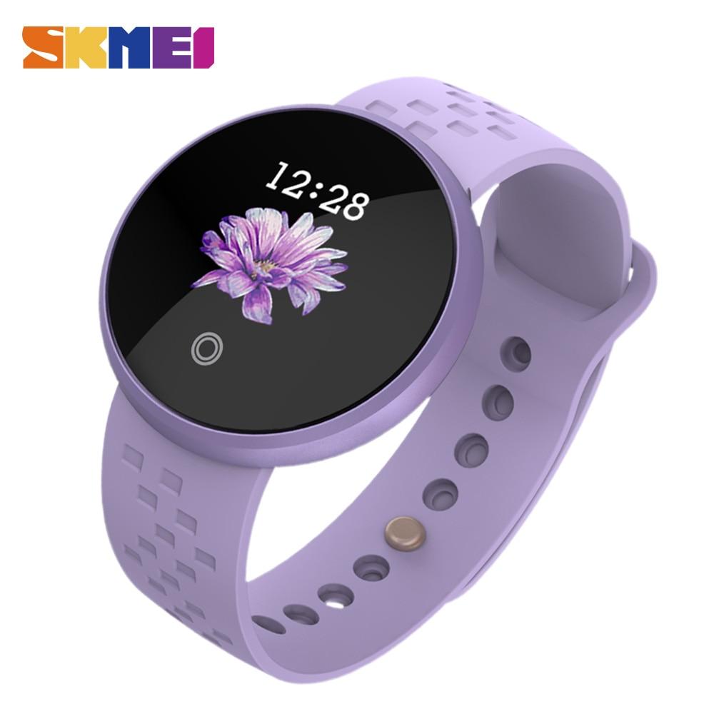 SKMEI Women Fashion Smart Digital Watches Women Period Reminder Heart Rate Waterproof Watches Calorie Step Leisure sports Watch