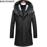 KOLMAKOV Winter Men High Quality Hooded Down Jackets Men's Fashion Cashmere Liner Down Coats Business Thick Parkas Coat Men 3XL