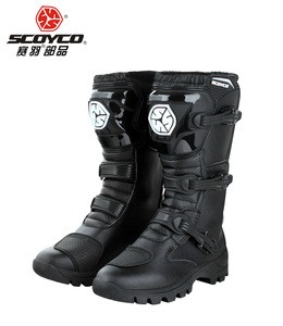 Image 2 - SCOYCO motorcycle riding Boots street automobile racing boots road Motocross riding shoes MBT012 size EUR42 US 8.5