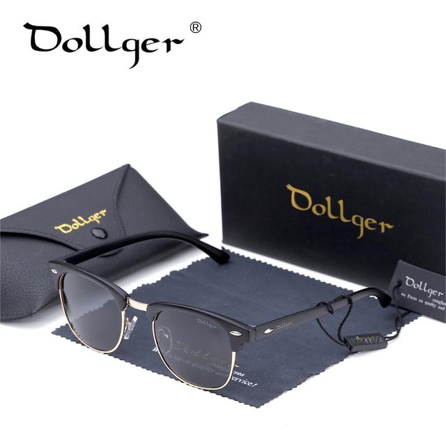 Dollger Retro Polarizado Gafas de Sol Hombres Mujeres Diseñador de la Marca Media de Metal G15 Club de Revestimiento Gafas de Sol de Moda Gafas de Sol D03