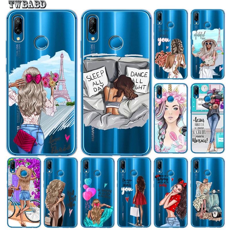 100% Quality Fashion Girls Case For Huawei P20 Lite P30 Pro P30 Lite P8lite P9lite 2017 P Smart Capa Soft Silicone Case Etui