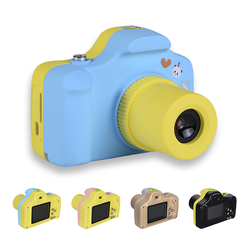 Cartoon 1.5 Inch 2MP Mini Shoot LSR Cam Digital Camera for Kids Baby Multifunction Toy Camera Support Micro SD Card