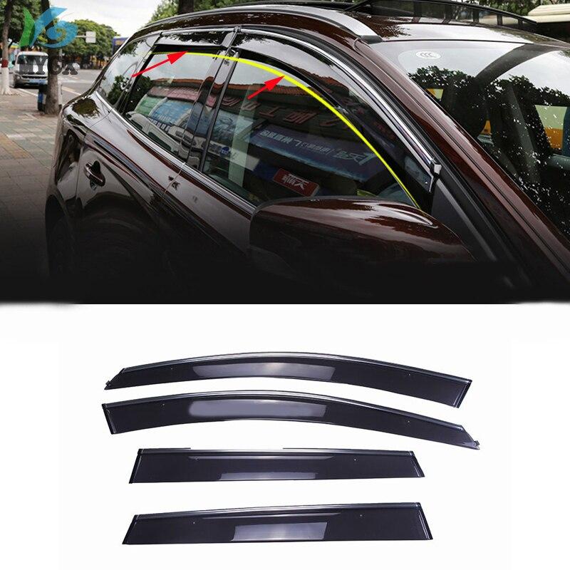 For Volvo XC60 2008-2017 Side Window Visors Sun Rain Guard Vent Deflectors