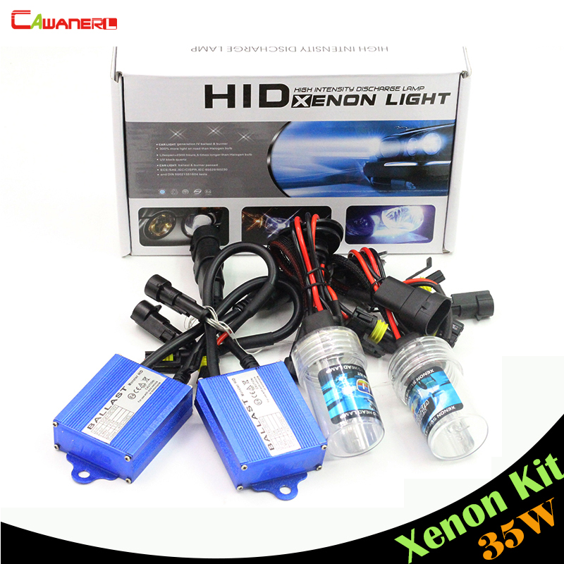 Cawanerl 35W H1 H3 H7 H8 H9 H11 9005 HB3 9006 HB4 880 881 XENON HID KIT 8000K Light Blue Ballast Bulb Car Headlight DRL Fog Lamp