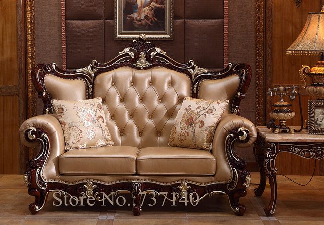 Oak Antique Furniture Style Sofa Luxury Home Baroque European Set Factory Direct