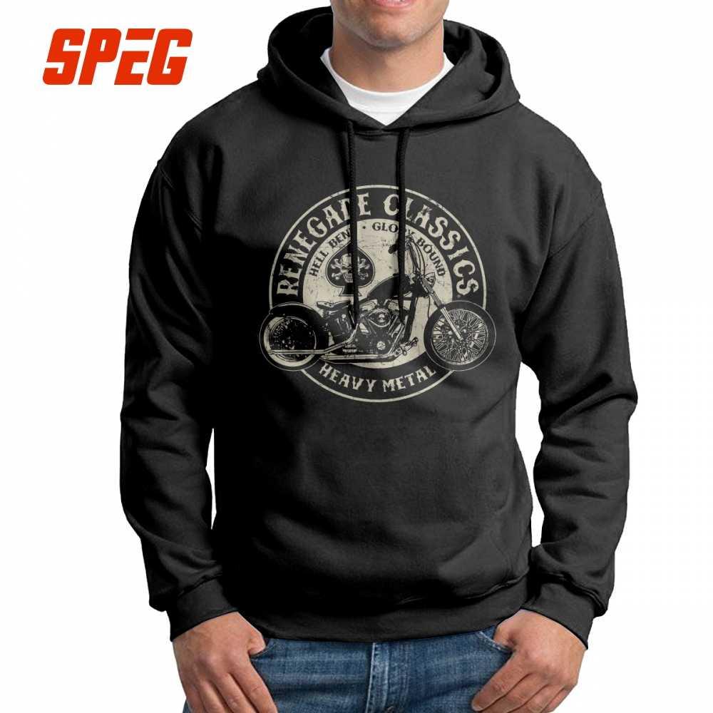 Männer Mit Kapuze Sweatshirts Vintage Motorrad USA 100% Baumwolle Neue Ankunft Neuheit Hoodies Mit Kapuze Tops
