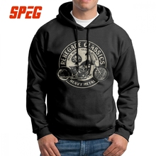 SPEG Men's Hooded Sweatshirts Vintage Motorcycle USA 100% Cotton Novelty Hoodies Tops