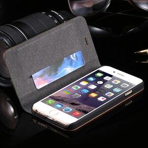 Image 4 - FLOVEME kılıf iPhone 11 6 6 S 7 8 X XS XS Max XR bambu ahşap durumda iPhone 6 s 7 8 artı 11 12 Pro Max Mini Flip Case deri