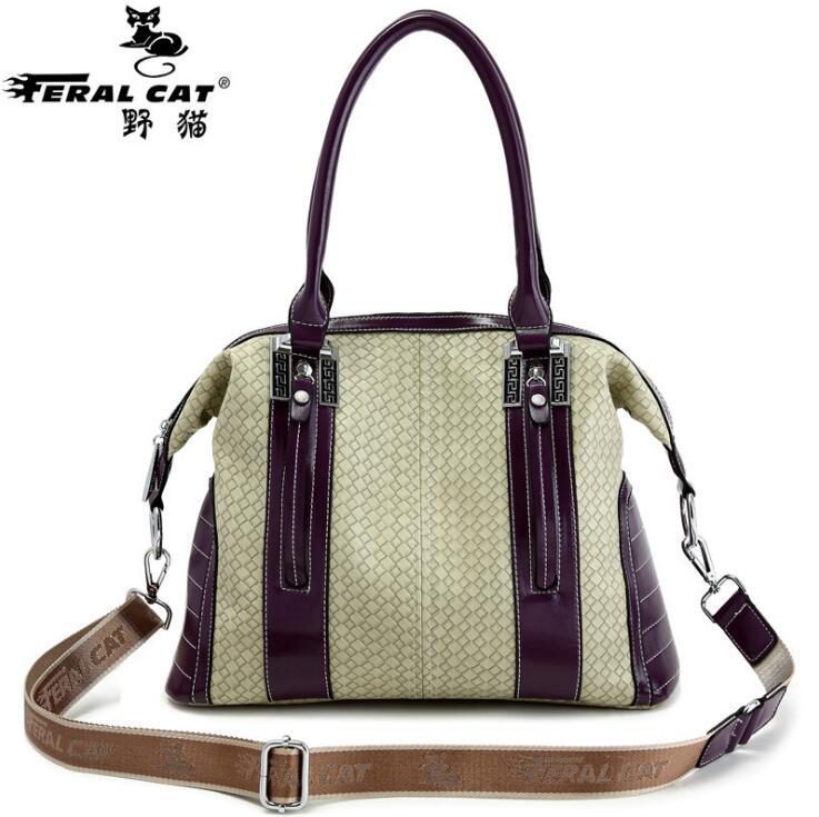 ФОТО FERAL CAT Brands Women Shoulder Bags Fashion PU Leather Bags Famous Brands Women Casual Handy Bags Ladies Handbag New FC-3502