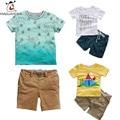 Children Clothing Sets Cartoon Print T-Shirt And Kids Belt Shorts 2 Pcs Children Boys Clothes sets Summer Fashion Kids Costume