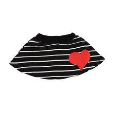 2pcs Long Sleeved T-shirt+Striped Skirt Set