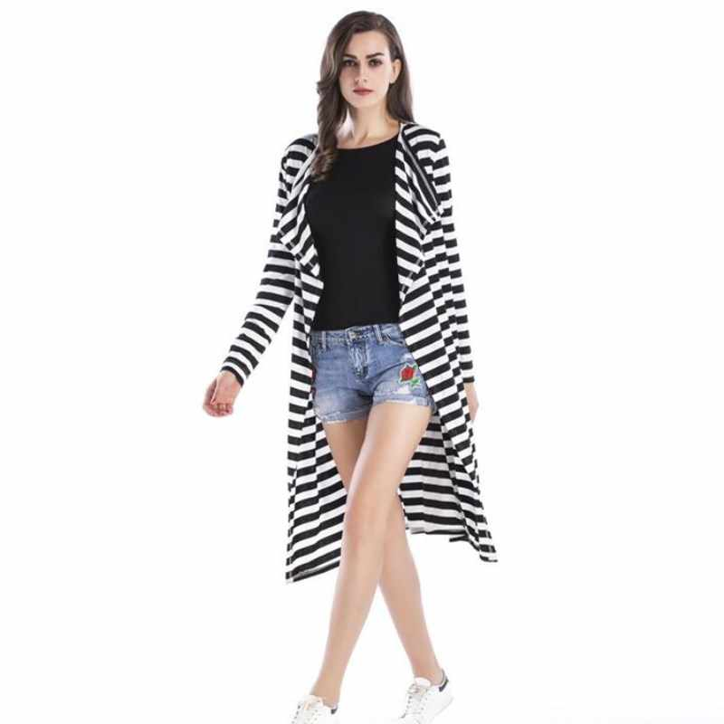 New 2018 Autumn Winter women elegant Waterfall Cardigan Ladies Long Sleeve Jumper Open Cardi Top Jacket Coat womens cardigans