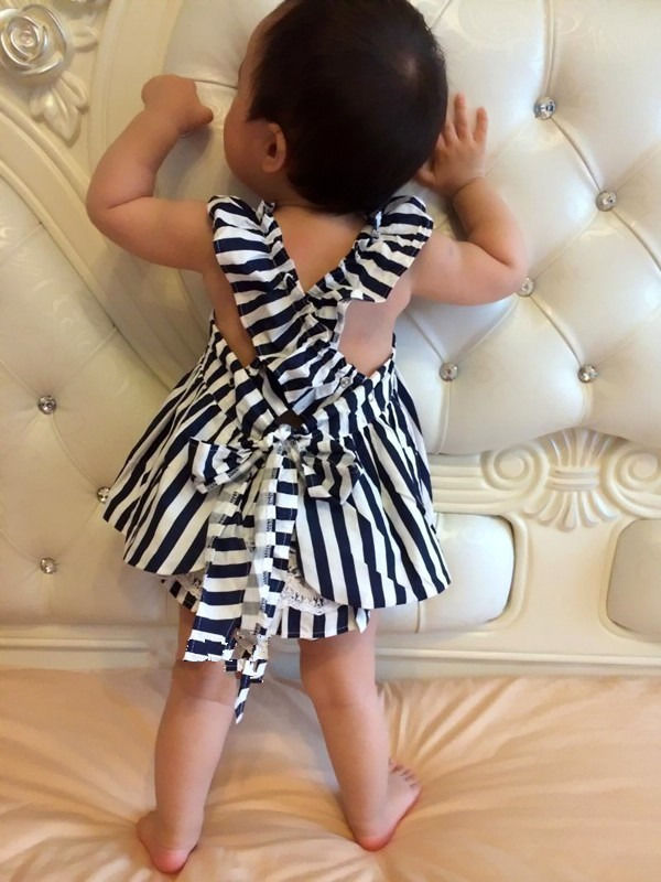 HOT-Baby-Girls-Clothes-Summer-Sunsuit-Infant-Outfit-Stripe-Backless-Dress-4