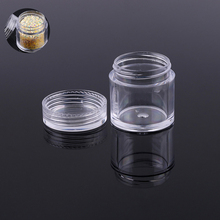 New3Pcs Mini DIYsmall jewelry rhinestone beads Empty Jar ,Eyeshadow cosmetic Face Cream Container Refillable Bottles Nail tools