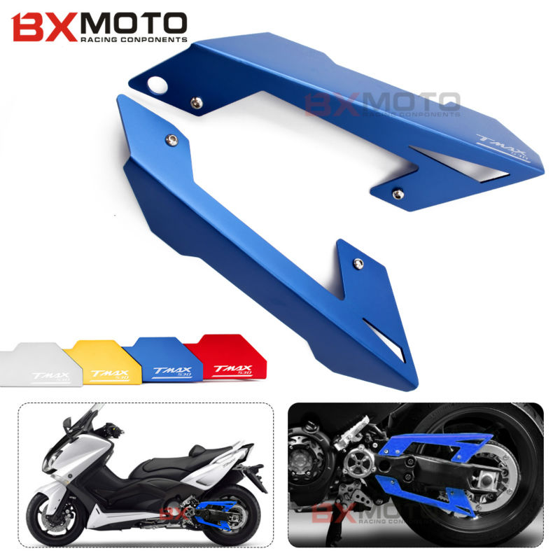 Blue Motorcycle accessories Chain Belt Guard Cover Protector For Yamaha TMAX 530 T-max t max 530 2012 2013 2014 2016 tmax530 motorcycle accessories new parts transmission belt pulley protective cover blue for yamaha t max 530 tmax530 t max530 2012 2015