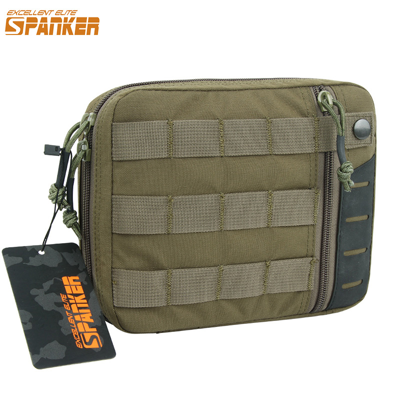 Hunting Nylon Molle EDC Pouch Outdoor Multi-Purpose Tactical Tools Kit Military Solid Waist Zipper Bags