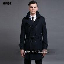 Шерстяные пальто-мужчин 2015 зима двубортный тонкий средний — длинный шерстяной жакет Большой размер одежды S-5XL бесплатная доставка