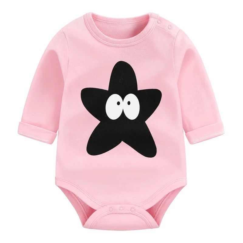 Для маленьких девочек одежда 2018 печати моды детские Комбинезоны для малышек детская одежда с длинным рукавом Одежда для новорожденных хлопок детские халаты