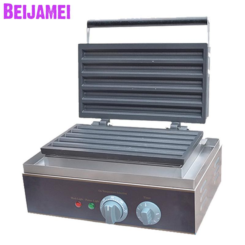 BEIJAMEI Commercial Automatic 5 Grid Churros Waffle Maker Machine Price/Electric Crispy Making Machine For Sale
