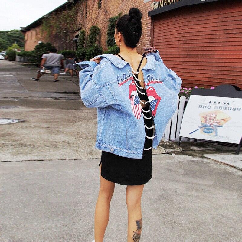 Casaco Régulière Jeans De Temps Veste Et Limitée Turn Le L'europe Amérique Unique En Bleu Bomber Revers down Collar Dans 2019 Nouveau Poitrine azx7P