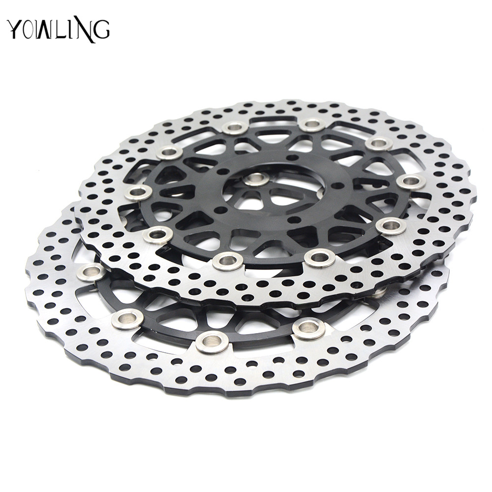 motorcycle accessories Front Brake Disc Rotor For KAWASAKI ZZR-ZX14R NINJA 1400CC model year 2006-2007 motorcycle accessories front brake discs rotor for suzuki gsf1200 2006 06 motorbike accessories front brake cn