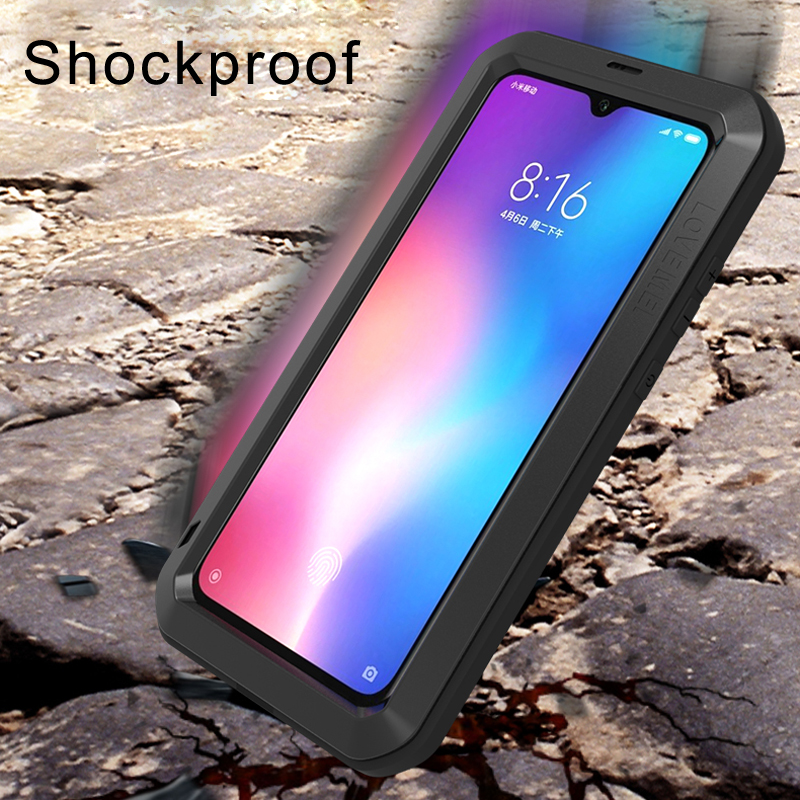 Image 5 - Gorilla glass film gift)Waterproof Heavy Duty Protective Case For Xiaomi Mi 9 Case Shockproof Metal Armor Cover Xiaomi Mi9 Case-in Fitted Cases from Cellphones & Telecommunications