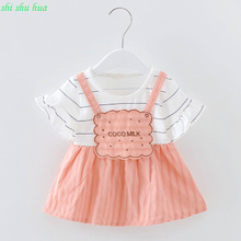 The girls clothes 2016 spring and autumn childrens clothing two piece suit 0-3 year old girl fashion cartoon butterfly knot cl