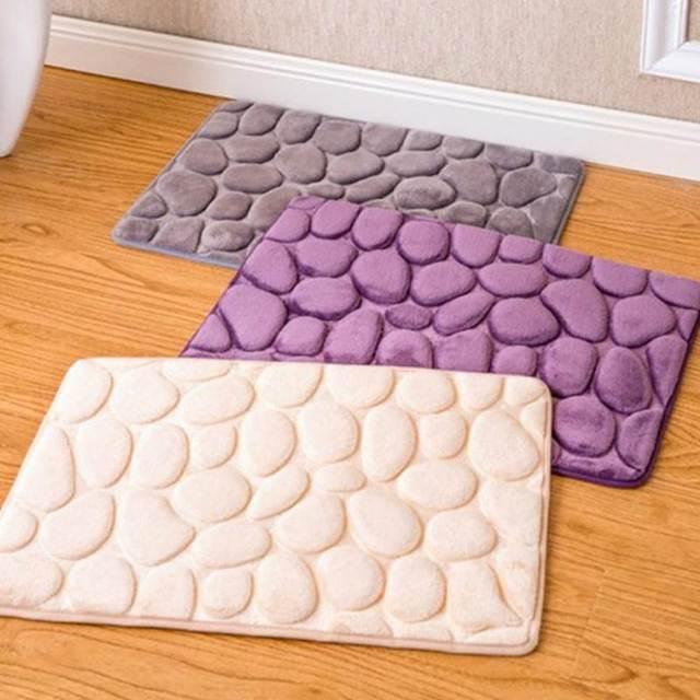 Pietra di Corallo Velluto Tappeto Bagno Memory Foam Tappeto Toilet Kit Da Bagno