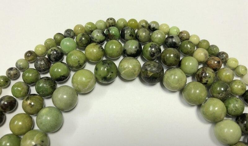 """Одна нить натуральный хризопраз 6 мм 8 мм 10 мм 12 мм Круглый полудрагоценный камень ювелирные бусины 15,"""" /strand"""