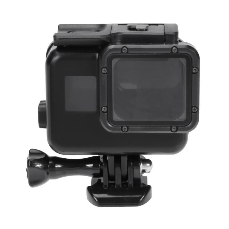 Action étanche Caméra Logement Cas En Plastique Noir Plongée Sous-Marine Caméra Protecteur Shell Cas pour GoPro Hero 5/6 Caméra