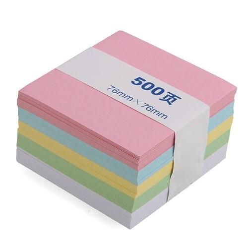 SOSW-Memo Note Pad Paper Notepad Gift 500 Pages 5 Colors Stationery конструктор lepin star plan истребитель набу 187 дет 05060